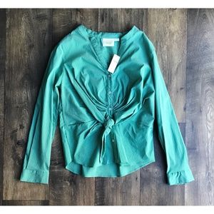 Anthropologie Maeve Katherine Knotted Blouse Sz 12